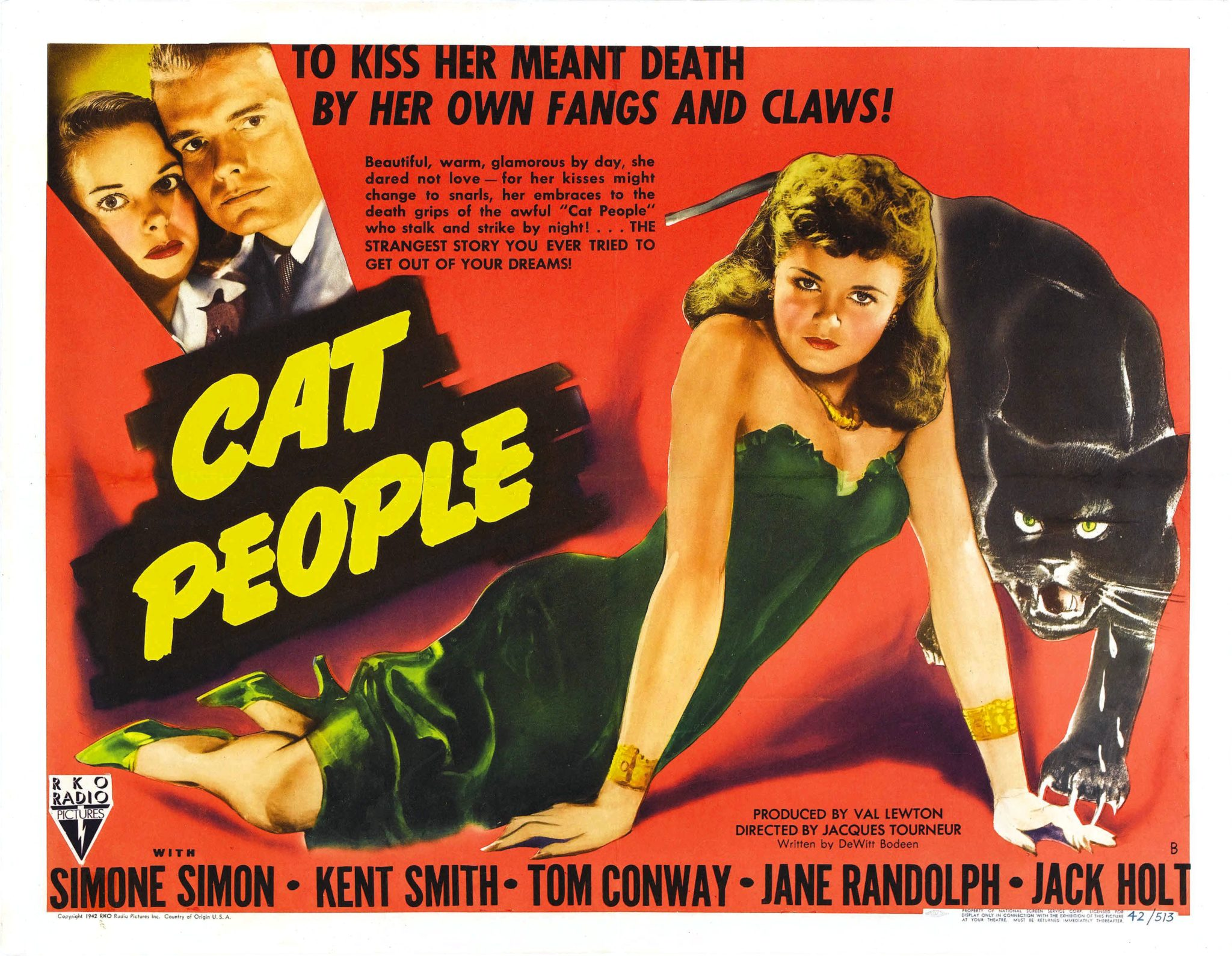 Image result for Val Lewton Cat People